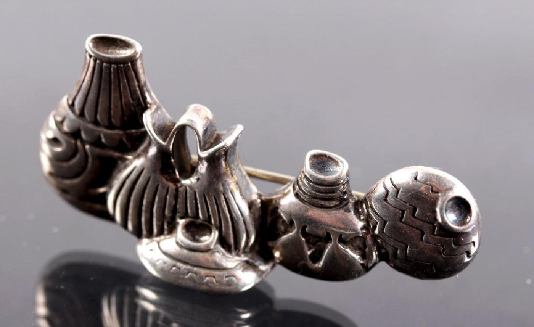 Three Sterling Silver Brooches - 11