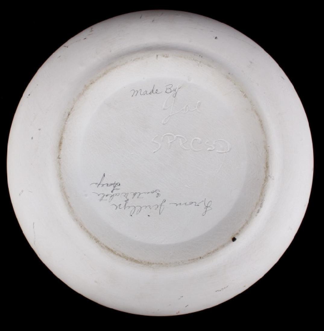 Signed Sioux Polychrome Geometric Motif Vase - 4