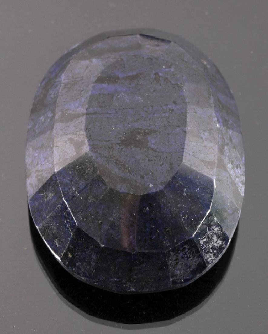 632ct. Faceted Natural African Sapphire Gemstone - 2