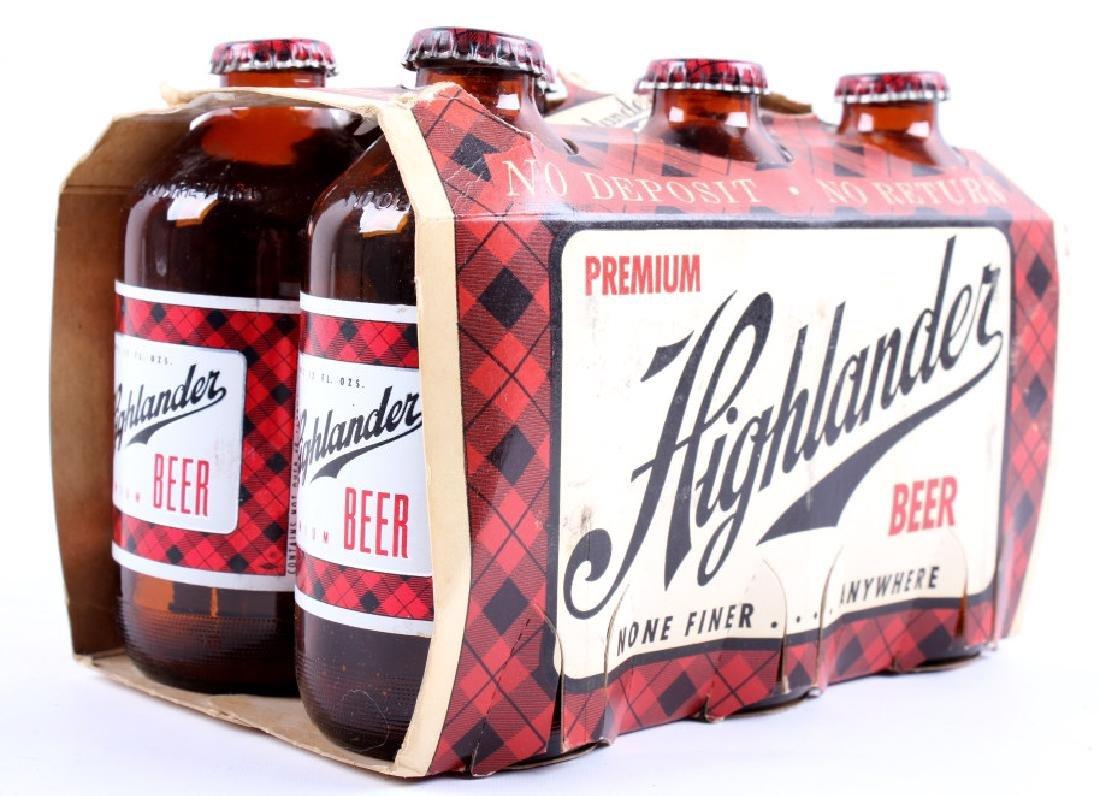 Highlander Beer Case And Six Pack Bottles - 13