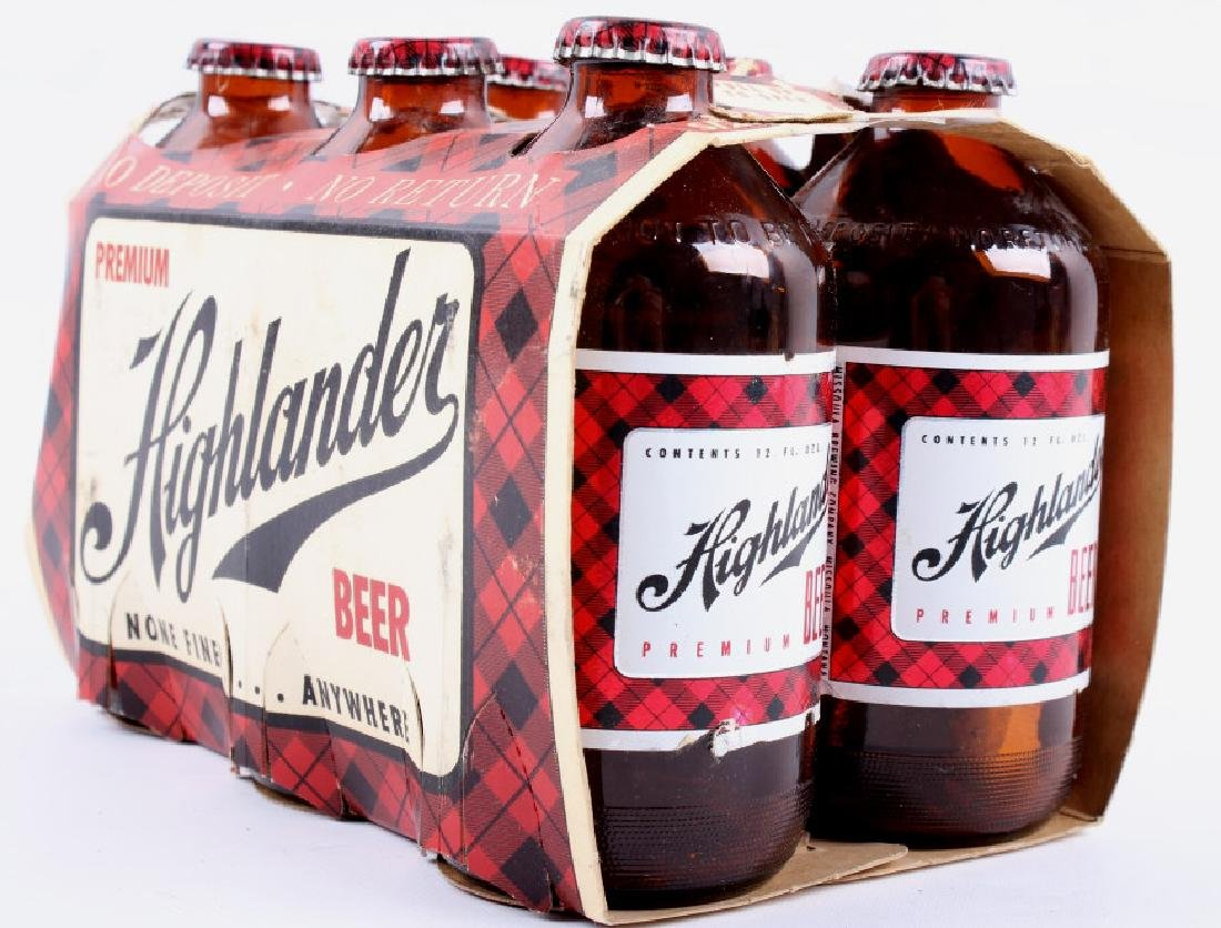 Highlander Beer Case And Six Pack Bottles - 14
