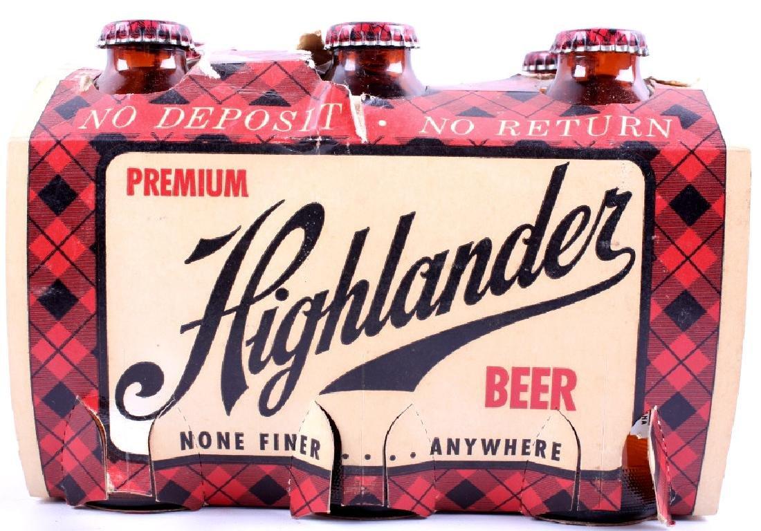Highlander Beer Case And Six Pack Bottles - 15