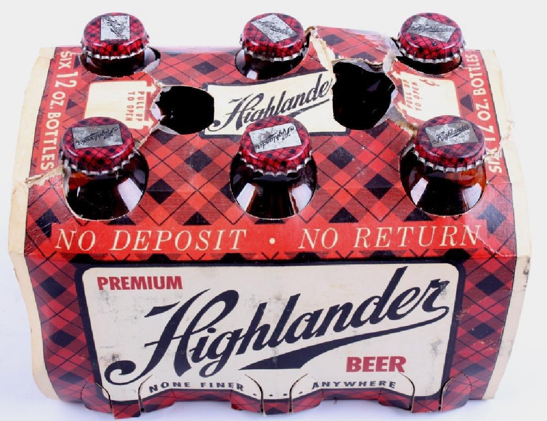 Highlander Beer Case And Six Pack Bottles - 16
