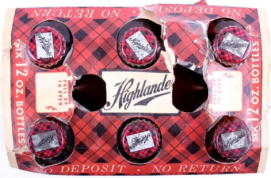 Highlander Beer Case And Six Pack Bottles - 17