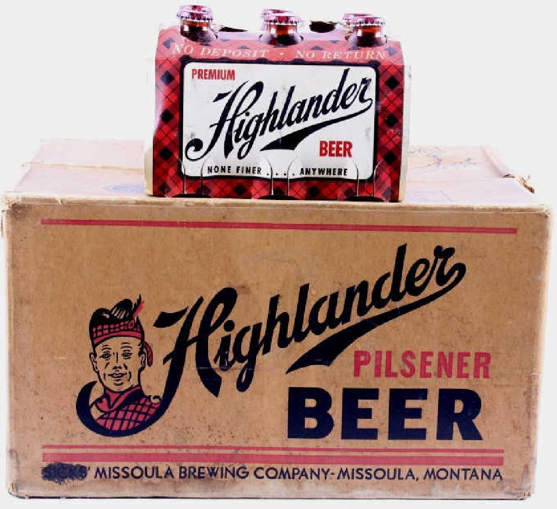 Highlander Beer Case And Six Pack Bottles - 20