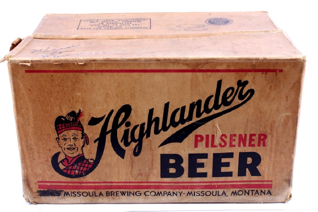 Highlander Beer Case And Six Pack Bottles - 2