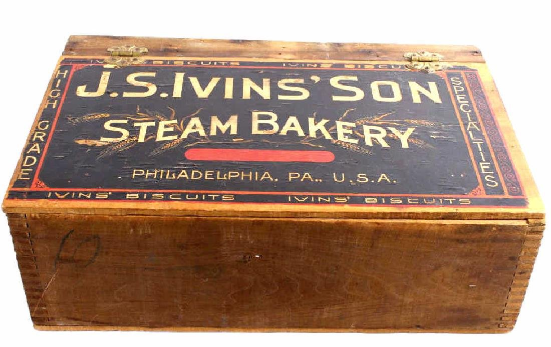 J.S. Ivins' Son Steam Bakery Advertising Box Early