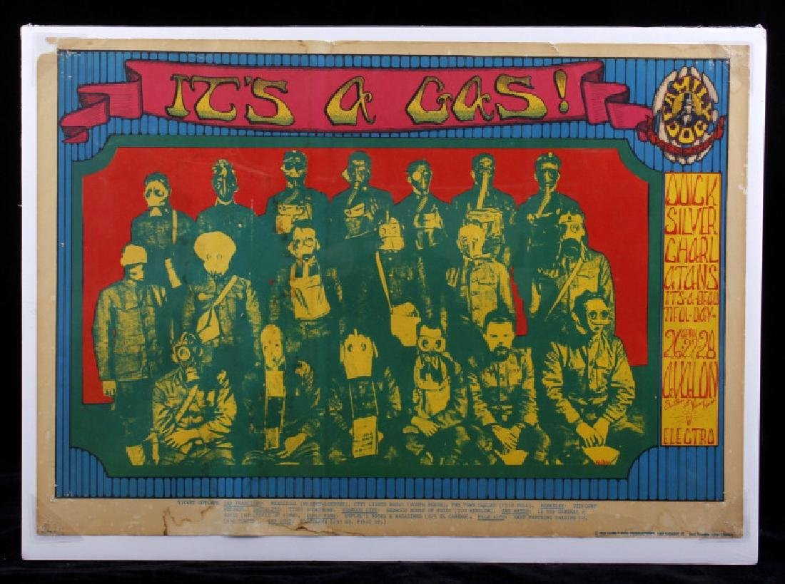 Family Dog Presents- Its A Gas Venue Poster c.1968