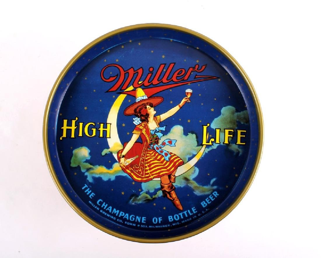 """Miller High Life 12"""" 40's Miller Lady Beer Tray - 11"""