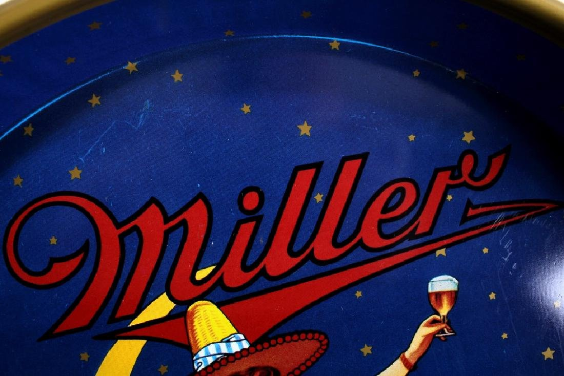 """Miller High Life 12"""" 40's Miller Lady Beer Tray - 5"""