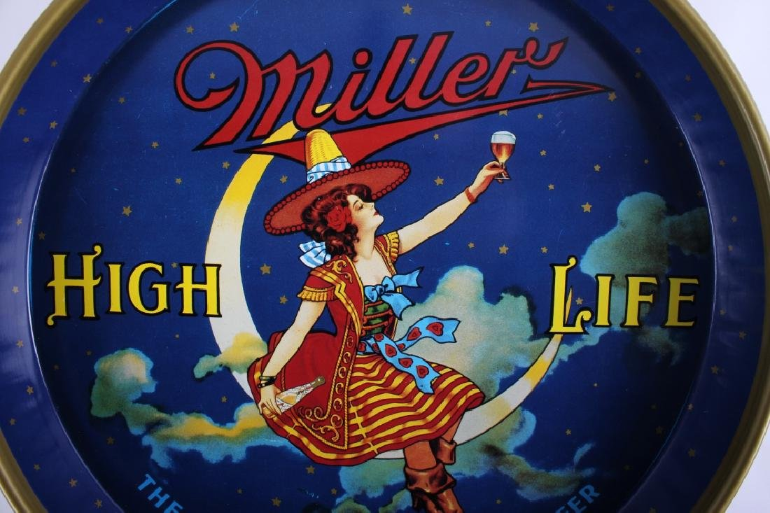 """Miller High Life 12"""" 40's Miller Lady Beer Tray - 9"""