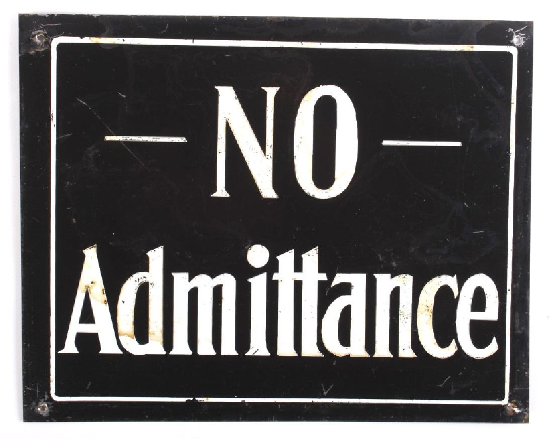 Antique Tin Building Compliance Signs - 10