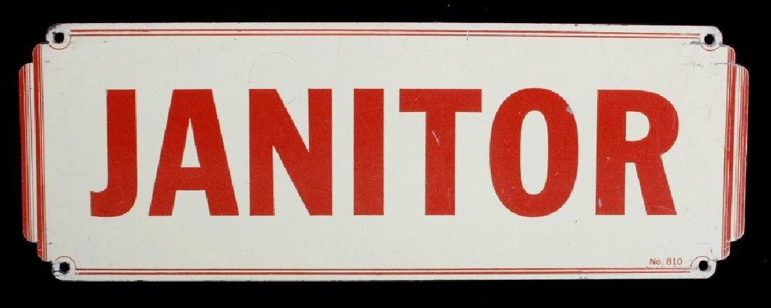 Antique Tin Building Compliance Signs - 2