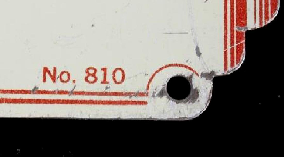 Antique Tin Building Compliance Signs - 3