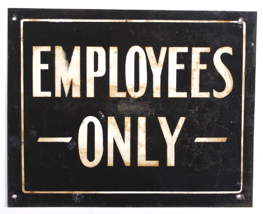 Antique Tin Building Compliance Signs - 6