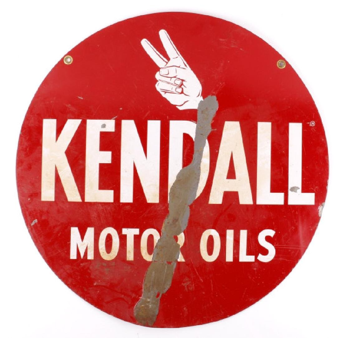 Kendall Motor Oils Double Sided Advertising Sign - 2