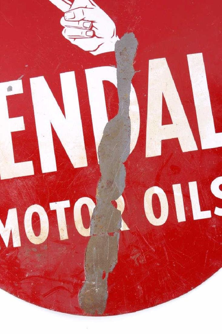 Kendall Motor Oils Double Sided Advertising Sign - 5