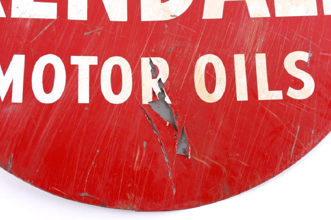 Kendall Motor Oils Double Sided Advertising Sign - 7