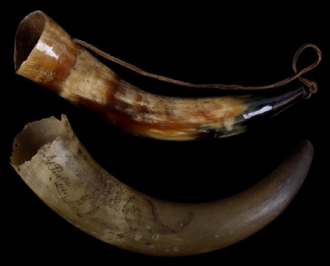 Scrimshaw Steerhorn Powderhorn & Bugle