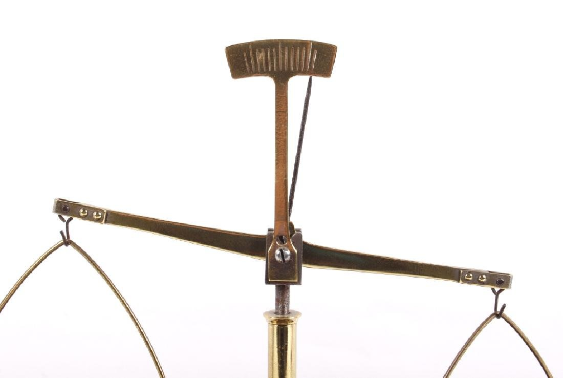 Antique Portable Brass & Hardwood Gold Scale - 5