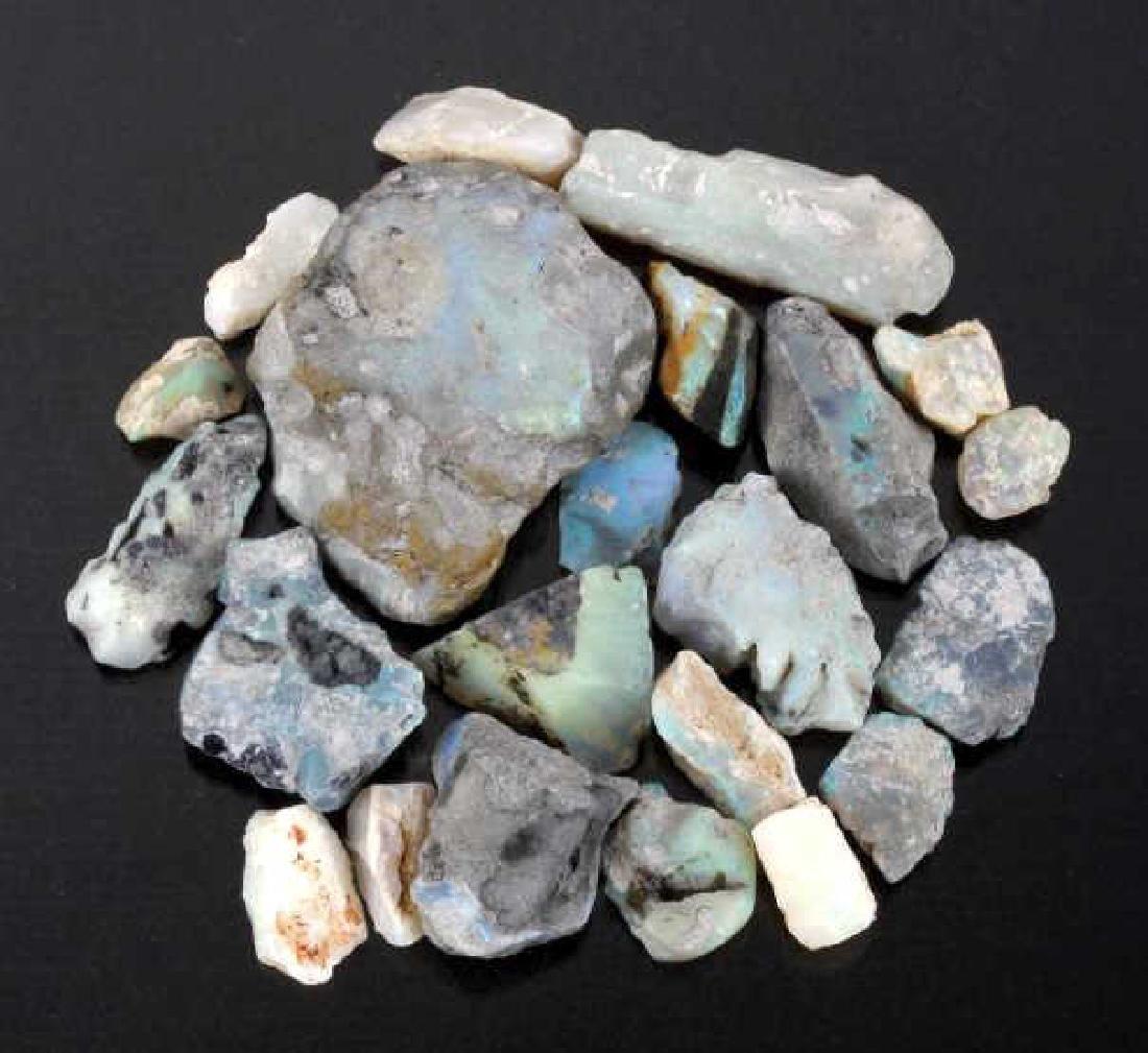 Twenty-Two Raw Australian Lightning Ridge Opals
