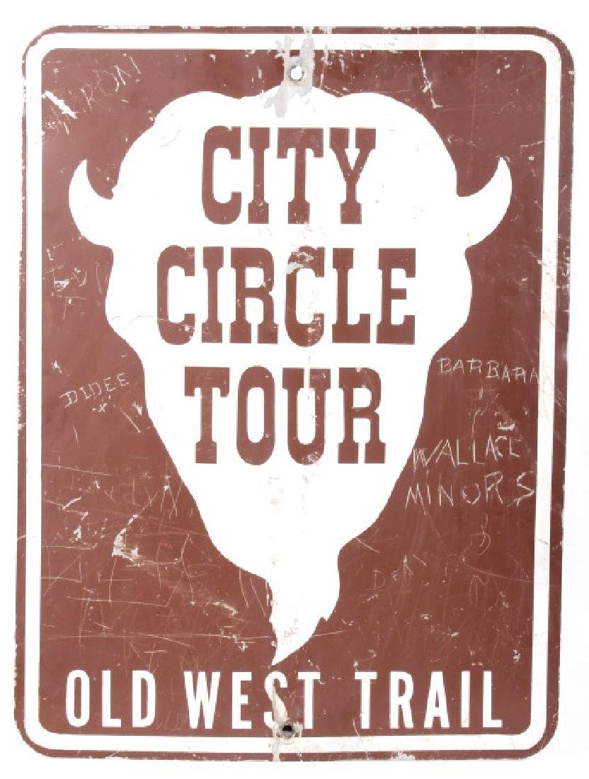 Montana City Circle Tour - Old West Trail Sign