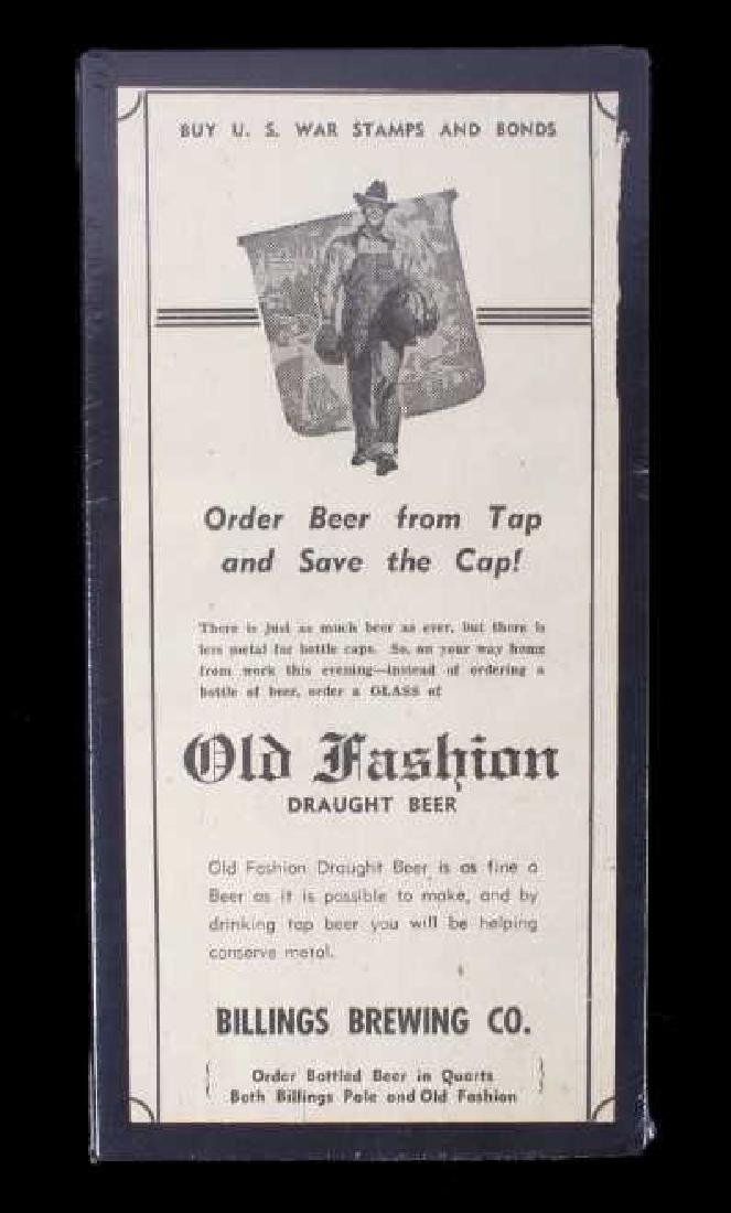 Billings Brewing Company Newspaper Clippings - 10