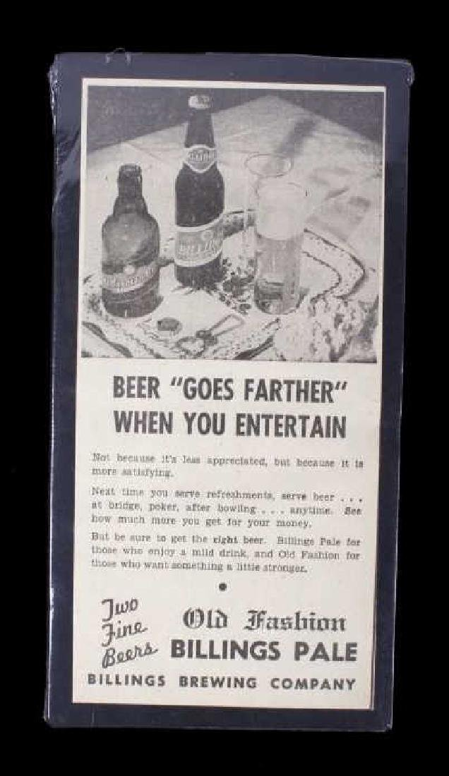 Billings Brewing Company Newspaper Clippings - 11