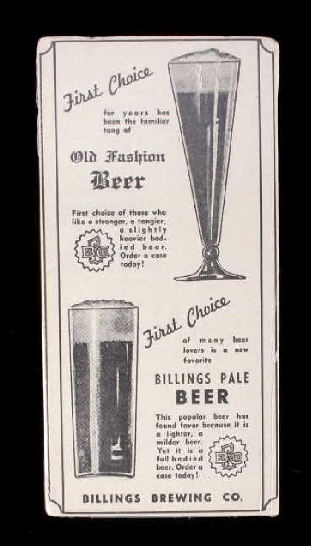 Billings Brewing Company Newspaper Clippings - 15