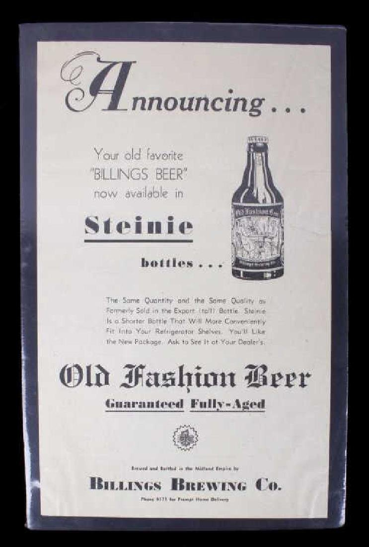Billings Brewing Company Newspaper Clippings - 2