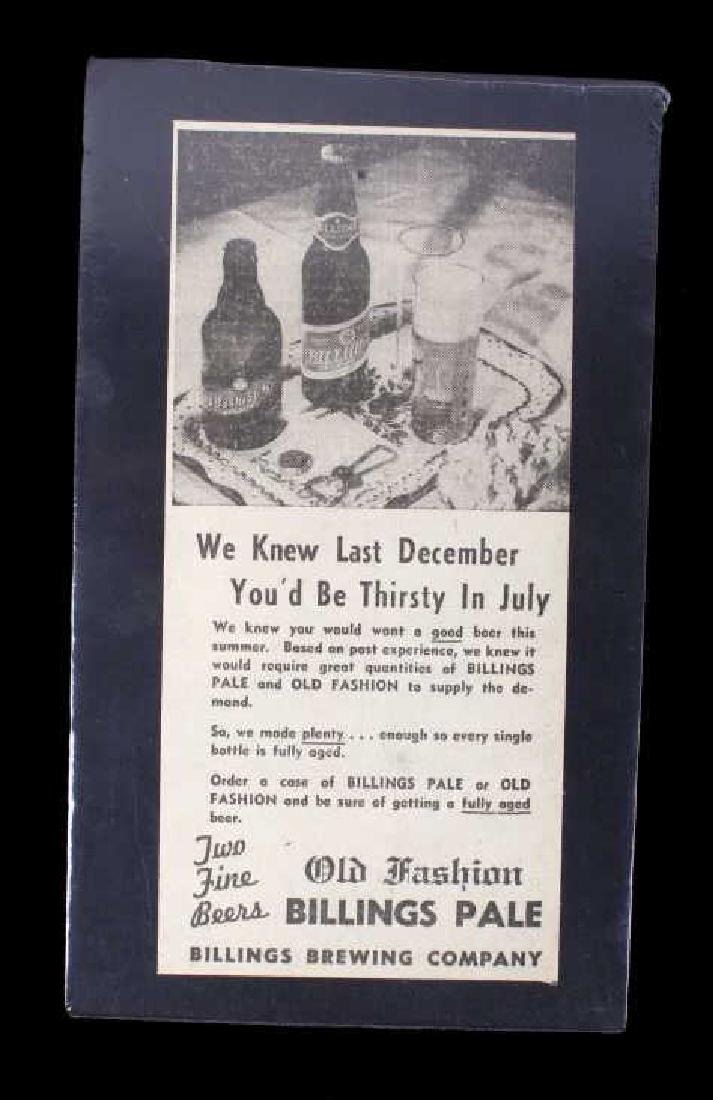 Billings Brewing Company Newspaper Clippings - 5