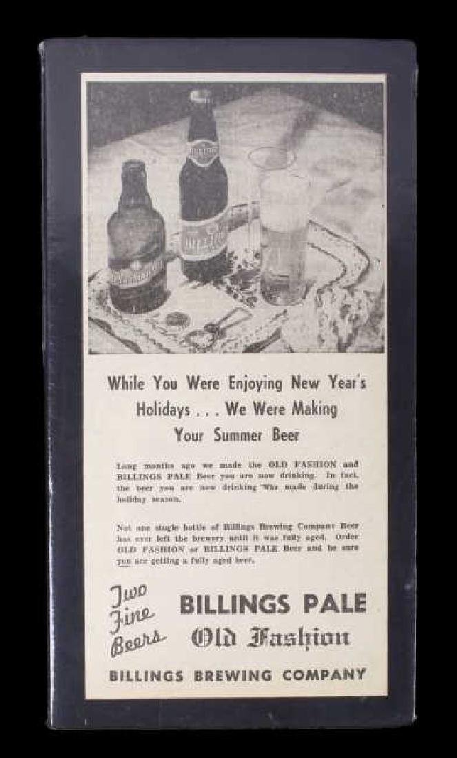 Billings Brewing Company Newspaper Clippings - 6