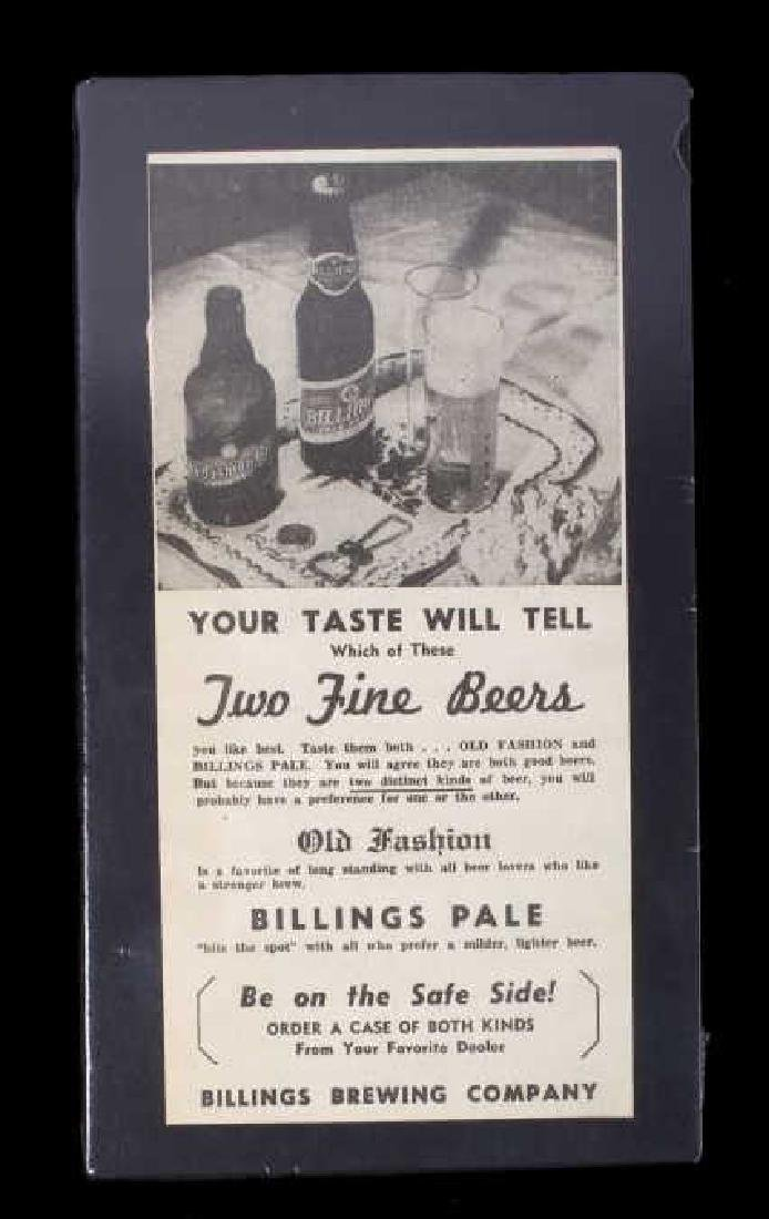 Billings Brewing Company Newspaper Clippings - 7