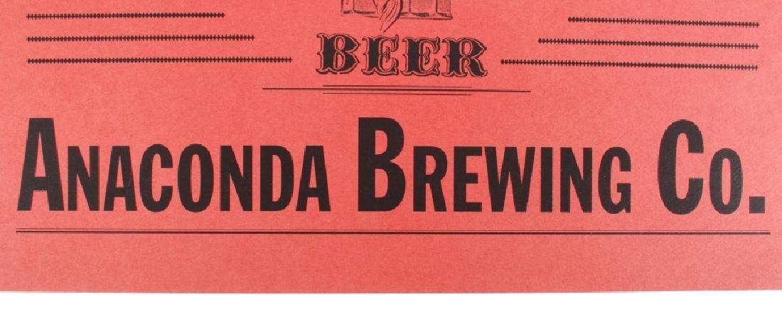 Anaconda Brewing Bock Beer Bottle & Advertisement - 6