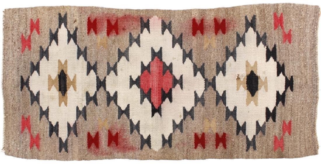 Navajo Genado Pattern Wool Rug Circa Early 1900's-
