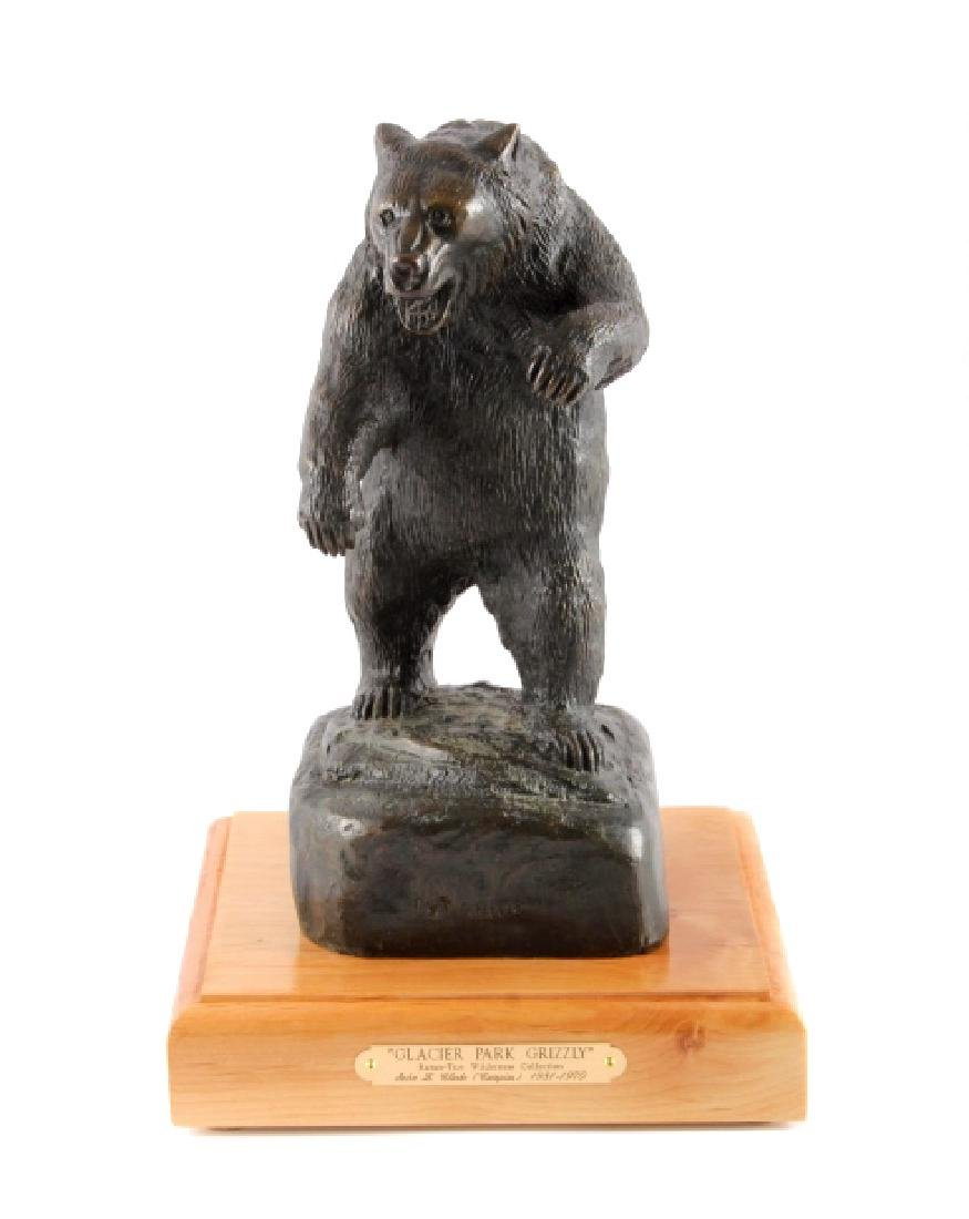 Original John L. Clarke Grizzly Bronze Sculpture