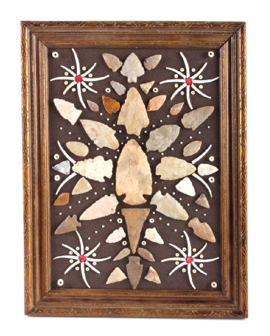 Native American Arrowhead Artifact Collection
