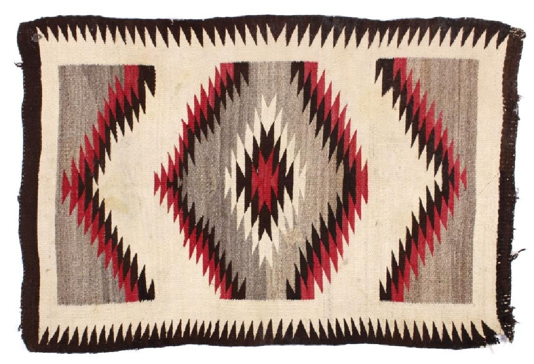Early Navajo Eye Dazzler Pattern Wool Rug c. 1900-