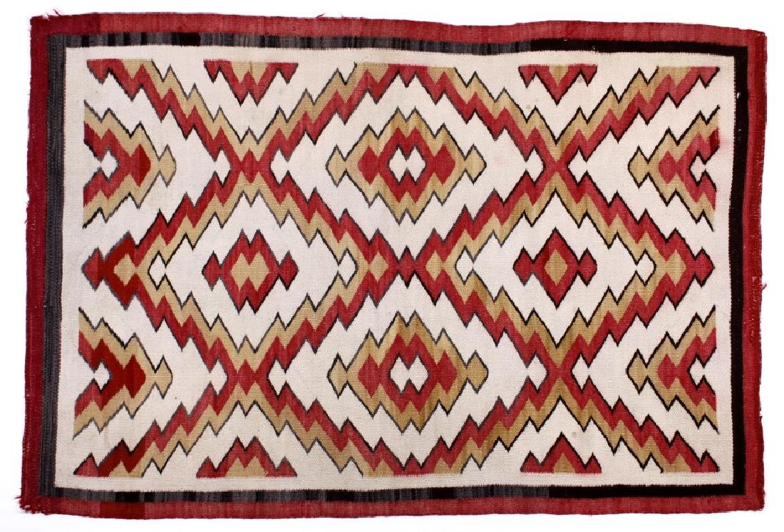 Exceptional Navajo Eye Dazzler Pattern Wool Rug