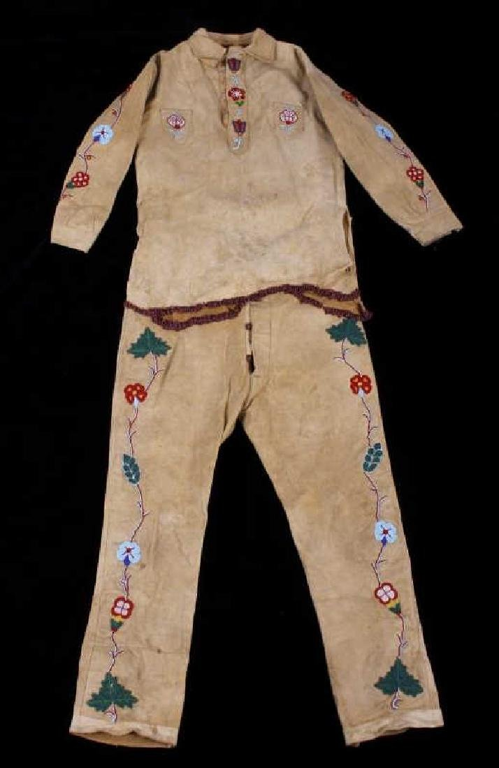 Crow Native American Indian Beaded Scout Outfit