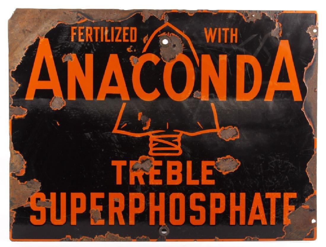 Anaconda, Montana Fertilizer Porcelain Enamel Sign