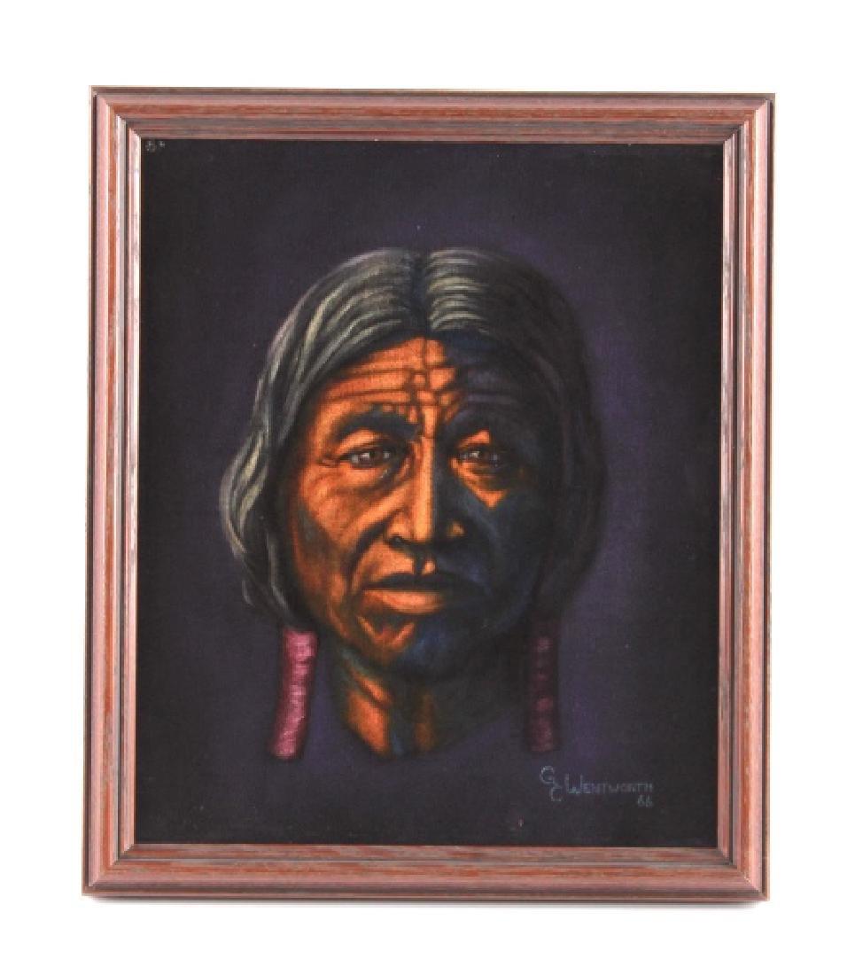 Original G.C. Wentworth Oil on Velvet Painting