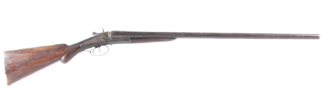 Belgium W. Richards 12 Ga. Hammered SxS Shotgun