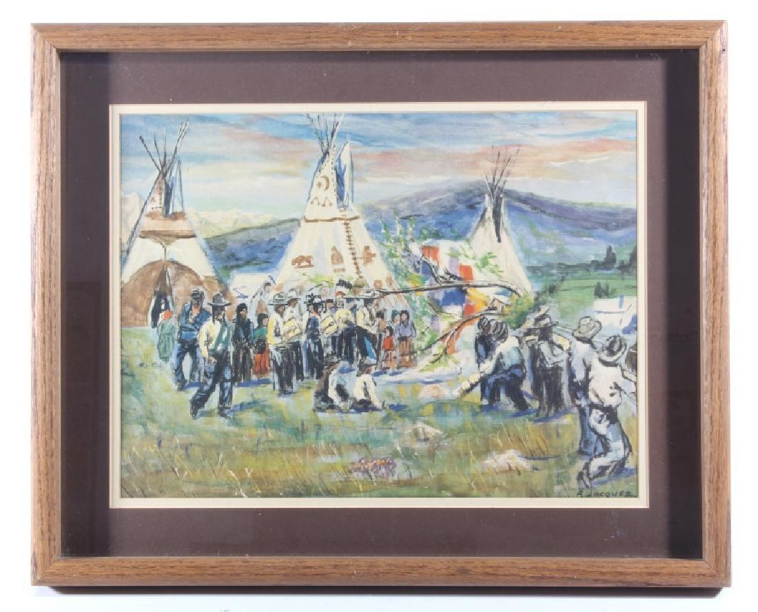 Albert Jacquez American West Watercolor Painting