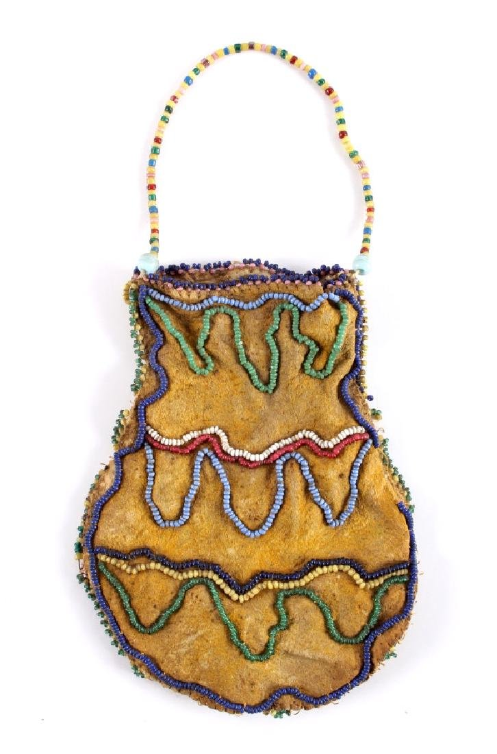 Crow Fancy Beaded Medicine Pouch c. 1890