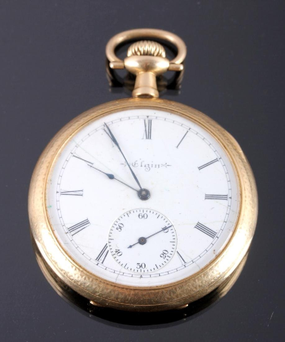 1904 Elgin 14K 12s 15 Jewel Pocket Watch