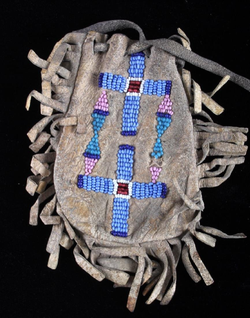 Northern Cheyenne Beaded Medicine Pouch c. 1890