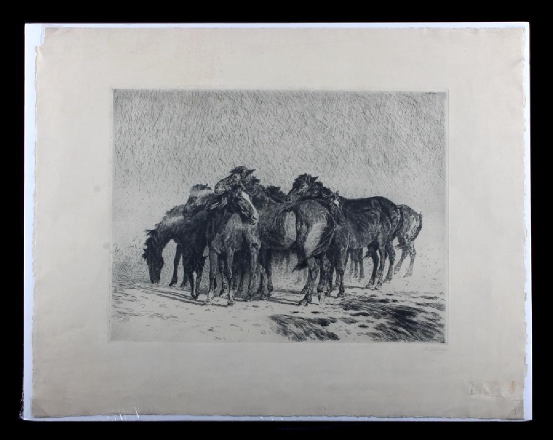 Original Alfred Roloff (1879-1951) Etching