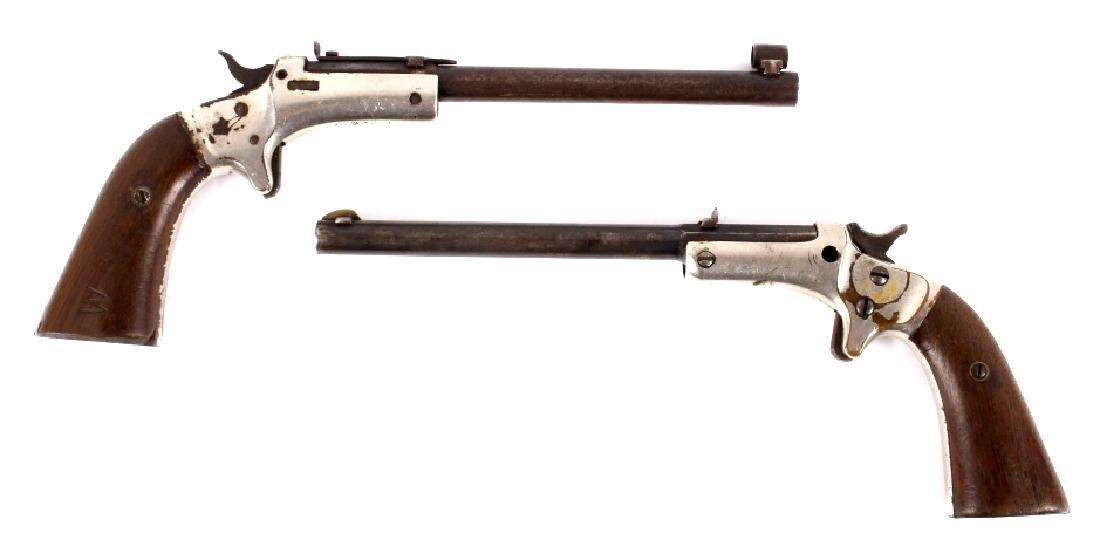 Two J Stevens Single Shot 22 Caliber Pocket Rifles