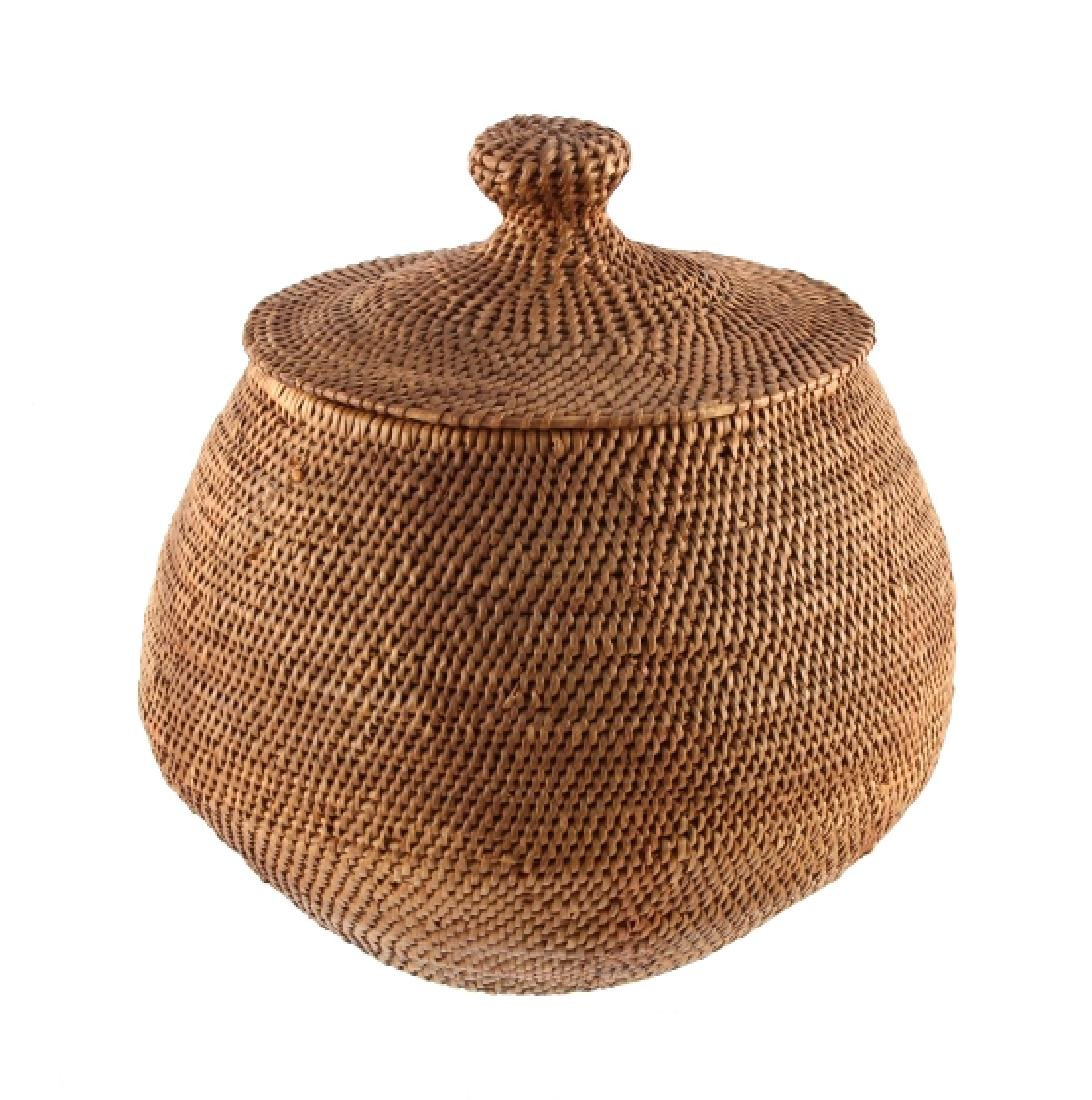Southern Plains Indian Basket with Lid c.1900-